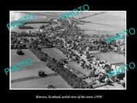 OLD POSTCARD SIZE PHOTO OF KINROSS SCOTLAND AERIAL VIEW OF THE TOWN c1950