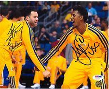 NICK YOUNG & JORDAN FARMAR Autograph 11x14 Los Angeles Lakers Photo - PSA/DNA