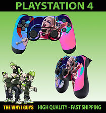 PS4 PLAYSTATION 4 PAD STICKER HARLEY QUINN HAPPY PINK BLUE SUICIDE SQUAD SKIN X2