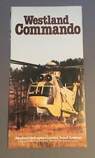 WESTLAND COMMANDO HELICOPTER FOLD OUT MANUFACTURERS SALES BROCHURE 1982