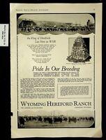 1934 Wyoming Hereford Ranch Pride in Breeding Cheyenne Vintage Print Ad 17343