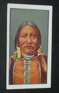 GODFREY PHILLIPS CIGARETTES CARD 1927 RED INDIANS #22 CHEF UNCAS MOHICANS