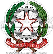 ITALY Coat of Arms Italia EU Italian National Emblem, Vinyl Bumper Sticker Decal