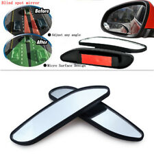 Car Wide Angle Auxiliary Rear Mirrors Side RearView 2x Blind Spot Convex Mirror