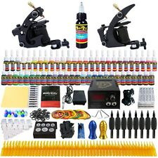 Professional Complete Tattoo Machine Gun Kit Power Supply Needle GripsTip TK251