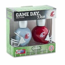 WASHINGTON STATE UNIVERSITY NAIL POLISH SET-WASHINGTON STATE COUGARS POLISH-2 PK