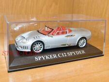 SPYKER C12 C-12 SPYDER SILVER WITH CHROMED PARTS 1:43
