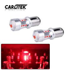 2X Red 1157 LED BAY15D 3030 18SMD Tail Break Stop Light Reverse Bulb Turn signal
