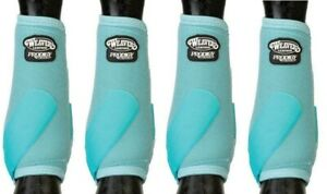 WEAVER PRODIGY PERFORMANCE ATHLETIC HORSE SPORT BOOTS 4 PACK Slate Blue M
