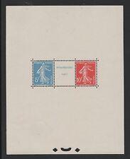"FRANCE BLOC FEUILLET 2 "" EXPO. PHILATELIQUE STRASBOURG 1927 "" NEUF xx LUXE  M834"