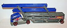 HOT WHEELS Turbo Hauler Semi Trailer Vehicle THREE LEVEL Rig 2012 Mattel Y0583