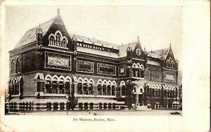 BOSTON MA Old Museum of Fine Arts Copley Square Massachusetts UDB Postcard 1905