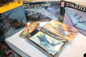 OLD LOT6 AMT MONOGRAM TESTORS X/YB-35 YB-49 FLYINGWING F7F-3 MODEL AIRPLANE KITS