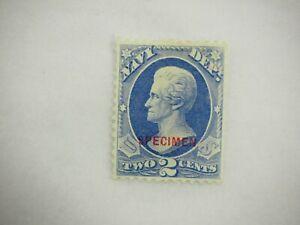 1873 United States 2 Cent Navy Dept. Official Stamp #O36 Unused S20 specimen
