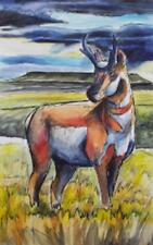 Ed Anderson Antelope Giclee on Canvas 50 x 30