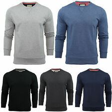 BRAVE SOUL MENS LONG SLEEVE CREW NECK SWEATER JUMPERS SWEATSHIRTS PLAIN TOP S-XL