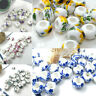 10Pcs Ceramic Rondelle Hole Loose Beads DIY Jewelry Crafts Findings Acces