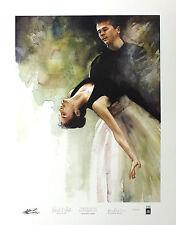 Barnes-mellish bethsabée et chêne ballet signé ltd ed! taille: 65cm x 50cm neuf rare
