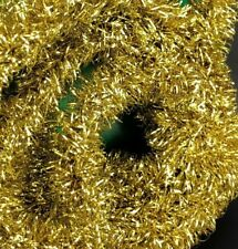 Vtg Wire Centered Garland Nos New Old Stock Christmas Tree Gold Rare Curly