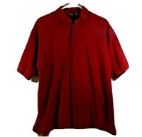 Patagonia Organic Cotton Polo Magenta Red Men's Shirt SZ M
