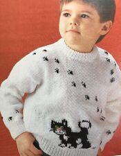 Ck23 - Knitting Pattern - Postman Pat DK Children's 'Jess' Jumper