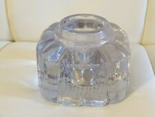 Vintage Glass Inkwell base art Deco ornate Collectible