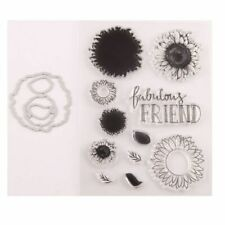 Sunflower Seal Stamp With Cutting Dies Stencil Set DIY Scrapbooking Embossing