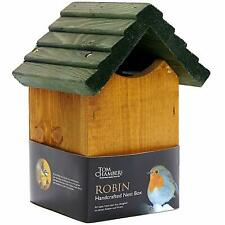 Tom Chambers Robin Bird Garden Nest Box Open Front, Handcrafted FSC Wood Finish
