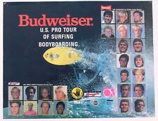 1987 Budweiser U.S. Pro Tour of Surfing Body Boarding Poster