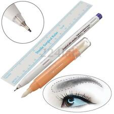 Pro Surgical Skin Marker Magic Pen Ruler Scribe Tattoo Piercing Permanent Makeup