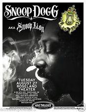SNOOP DOGG / AKA SNOOP LION 2013 PORTLAND CONCERT TOUR POSTER - Hip Hop Music