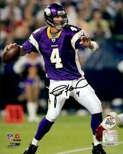 "Brett Favre Autographed/Signed Minnesota Vikings 16X20 NFL Photo #1 ""Throwing"""