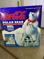 Coca Cola Coke Polar Bear Ertl Mechanical Bank 1995 Limited Edition Original Box