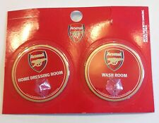 Arsenal Gunners FC Official Metal Sign w/ Hanging Robe Hooks 2 Pack NEW