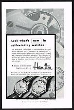 1950s Vintage Hamilton K-300 K-200 Watch Paper Print Ad