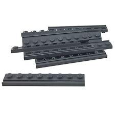 10 NEW LEGO Plate Modified 1 x 8 Door Rail BRICKS Dark Bluish Gray