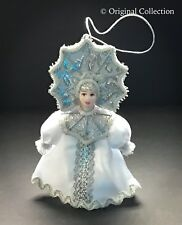Christmas Ornament Beautiful Russian Doll NEW Handmade Hand painted Vintage #820