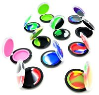 Silicone Wax Wallet Containers Clam shell 5ml Wallet NonStick Pick any color