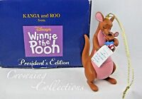Grolier Kanga and Roo President's Edition Ornament Disney Winnie the Pooh & MIB