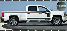 Solid Hockey Vinyl Decals Stripe Kit Chevy Silverado + Side Text
