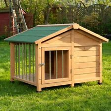 Big Wooden Dog Cat Pet Kennel Medium Large XL Warm House Weather Proof Shelter