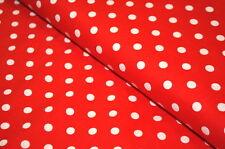 PUNTI tessuto cotone 0, 5m x 1,40 m DOTS DOT ROSSO