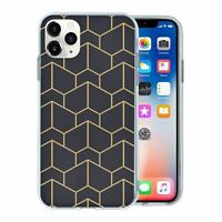 For Apple iPhone 11 PRO MAX Silicone Case Geometric Abstract - S6130