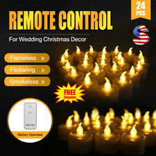 24Pcs Flameless Votive Candles Battery Remote Operated Flickering Led Tea Light