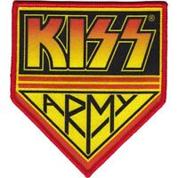 KISS - ARMY LOGO - EMBROIDERED PATCH - BRAND NEW - MUSIC BAND 4416