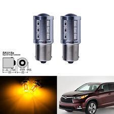 Jaune/Orange 581 BAU15s PY21W Ampoules 21 SMD LED Clignotant Feu arriere Lampe