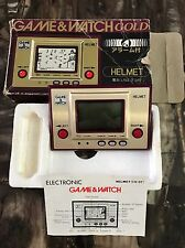 Nintendo Game & Watch Gold CN-07 Helmet Japan Vintage
