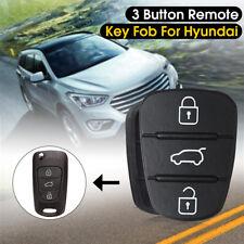 3 BTNs Remote Flip Key Fob Case Shell Repair Rubber Pad For Hyundai I10 I20 I30