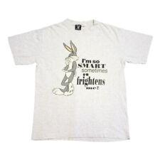 Bugs Bunny I'm So Smart Tshirt   Vintage 90s Looney Tunes Cartoon Slogan Tee