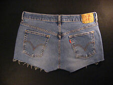 LEVIS 515 CUTOFF JEANS SHORTS Cut Off W 32 Denim Red Tab Daisy Duke HIGH WAISTED